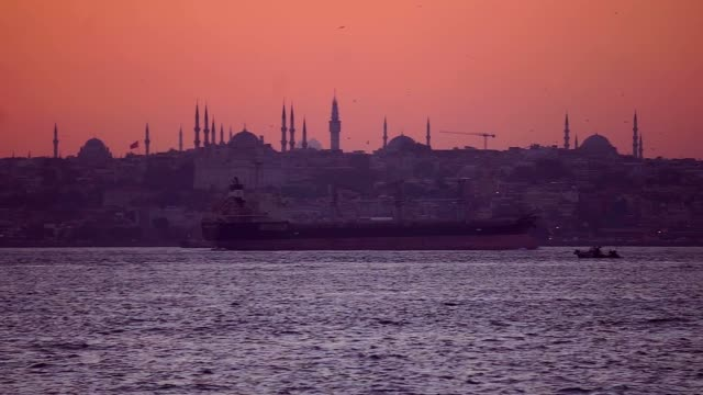 istanbul bosphorus - blue mosque stock videos & royalty-free footage
