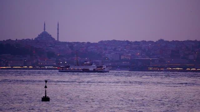 istanbul bosphorus - minaret stock videos & royalty-free footage