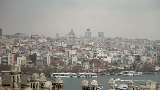 istanbul cityscape - golden horn istanbul stock videos and b-roll footage