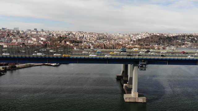 イスタンブール・ハリチ橋 - イスタンブール 金角湾点の映像素材/bロール