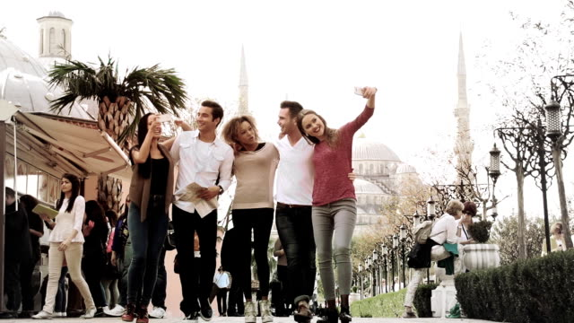 istanbul friends city group - turkey middle east stock videos & royalty-free footage