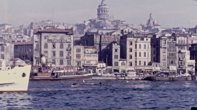 istanbul from the water, 1946 - istanbul stock videos & royalty-free footage