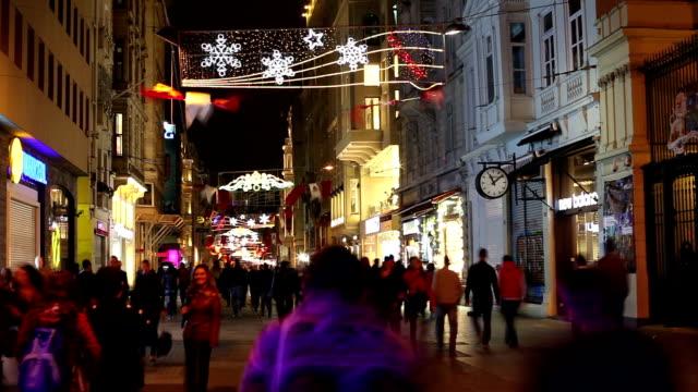 イスタンブール istiklal street - 路面軌道点の映像素材/bロール