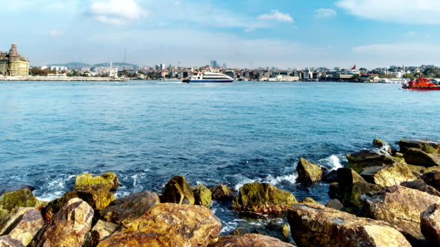 istanbul kadikoy cityscape time lapse - marmara stock videos and b-roll footage