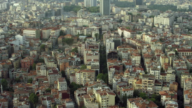 istanbul neighborhood rooftops - istanbul stock videos and b-roll footage