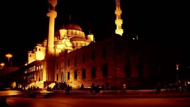 istanbul new mosque - yeni cami mosque stock videos & royalty-free footage