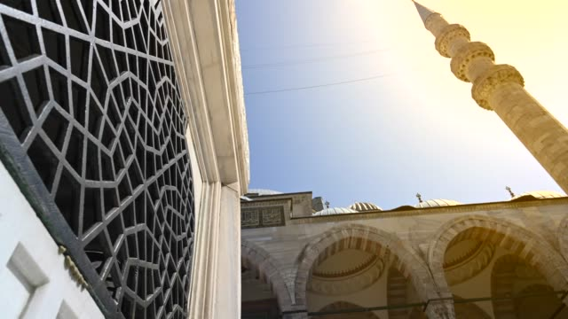 istanbul ottoman suleymaniye mosque exterior - mosque stock videos & royalty-free footage