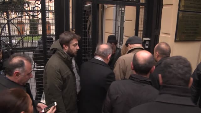 istanbul provincial organization members of republican people's party of turkey leave carnations outside the russian consulate general in istanbul on... - assassination of andrei karlov stock videos & royalty-free footage