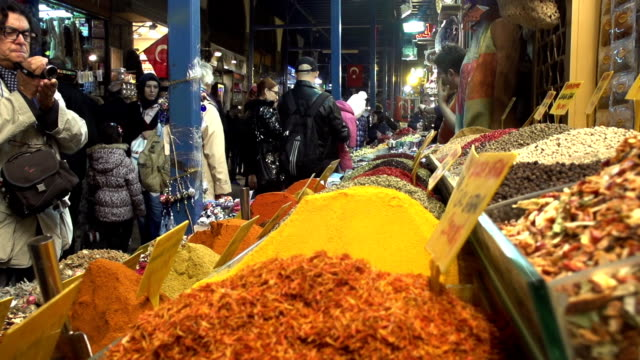 istanbul spice market - middle east stock videos & royalty-free footage