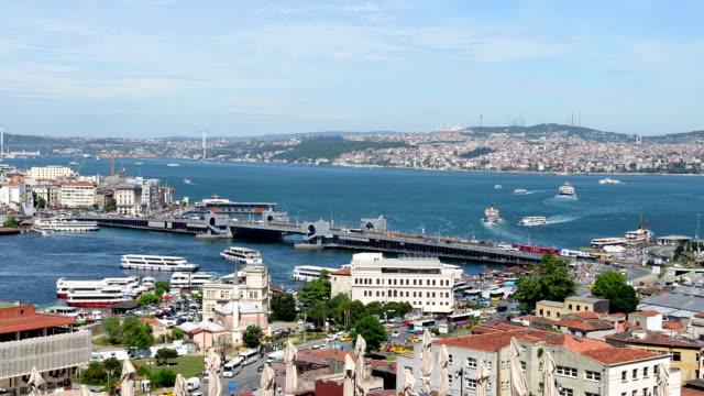 イスタンブール time lapse (低速度撮影) - イスタンブール 金角湾点の映像素材/bロール