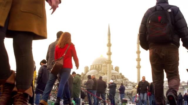 istanbul,  turkey, galata bridge - ancient history stock videos & royalty-free footage