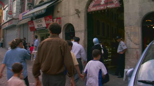Istanbul, TurkeyBazaar entrance, people walking