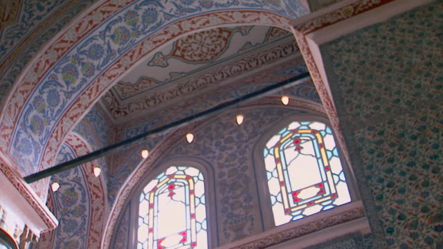 Istanbul, TurkeyBlue Mosque interior, low angle of windows