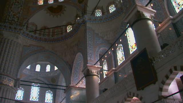 vidéos et rushes de istanbul, turkeyblue mosque interior - mosquée
