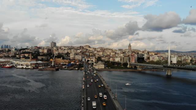 istanbul unkapanı bridge - blue mosque stock videos & royalty-free footage