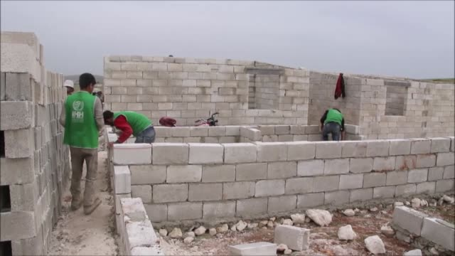 istanbulbased humanitarian relief foundation completed 2816 briquette houses in idlib that aims to shelter syrians on april 28 2020 - briquette stock videos & royalty-free footage