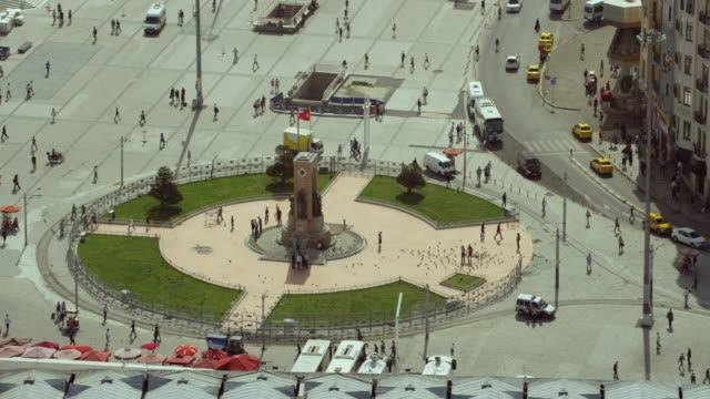 istanbul's famous taksim square - istanbul stock videos and b-roll footage