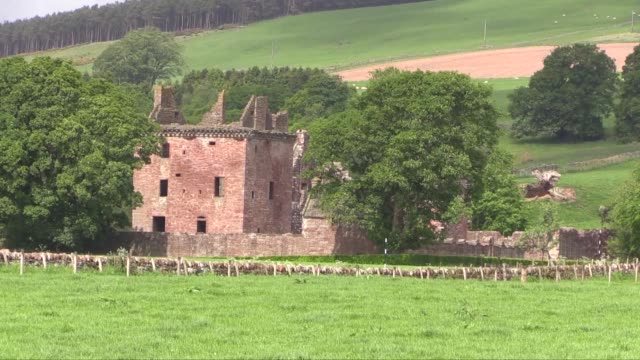 it is a ruined 16thcentury castle with an early17thcentury walled garden it is located close to edzell and is around 5 miles north of brechin in... - dundee scotland stock videos and b-roll footage