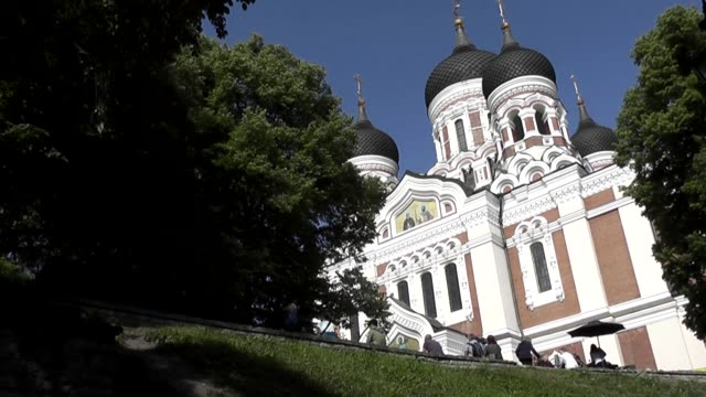 it is an orthodox cathedral built to a design by mikhail preobrazhensky in a typical russian revival style between 1894 and 1900, during the period... - revival stock videos & royalty-free footage