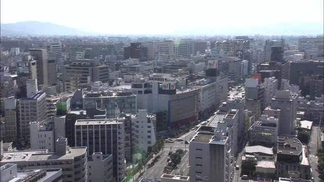 it is known as the biggest entertainment district in kyushu island, with a lot of shopping center, commercial building, and so on. tenjin area is... - fukuoka prefecture stock videos & royalty-free footage