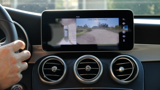 it is mercedes benz communications system connecting you with the car. - safety stock videos & royalty-free footage