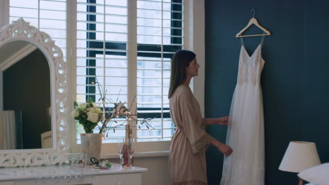 it really is the dress of my dreams - sposa video stock e b–roll