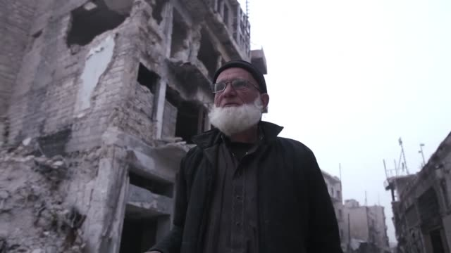 it used to be one of the most vibrant marketplaces in the syrian city of aleppo but today the bombed out streets of khan alharir are home to a... - syrien stock-videos und b-roll-filmmaterial