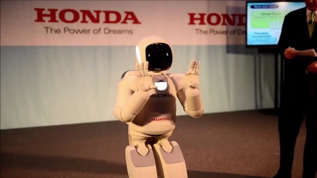 it walks and runs even up and down stairs - asimo stock videos & royalty-free footage