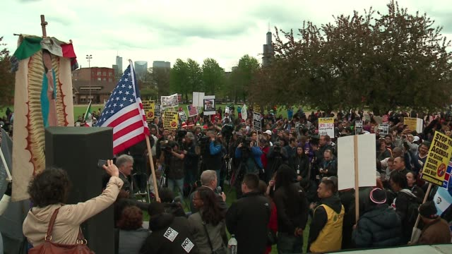 wgn it was a day of protest across the country and in chicago as a variety of groups got together to march in support of a variety of issues and in... - dick durbin stock videos & royalty-free footage