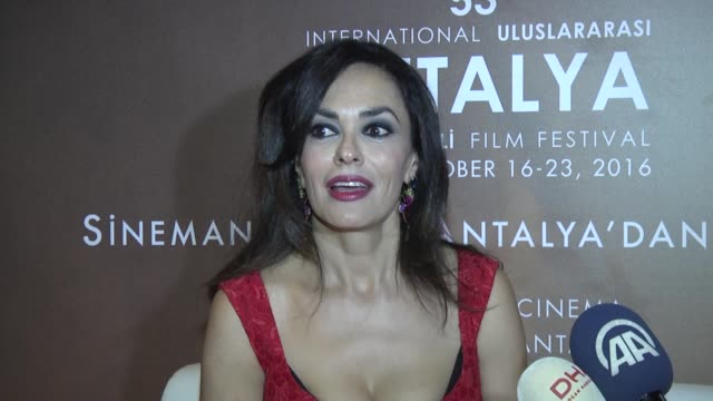 italian actress maria grazia cucinotta attends the 53rd international antalya film festival in antalya turkey on october 17 2016 - actress stock videos & royalty-free footage