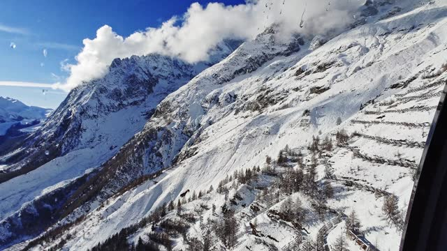 italian alps in courmayeur - compatsch stock videos & royalty-free footage
