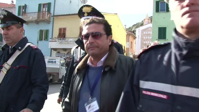 italian captain francesco schettino on thursday returned on board his stricken costa concordia cruise ship more than two years after leaving it in a... - captain stock videos and b-roll footage