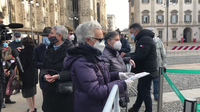 italian civil protection tent for the administration of flu vaccines for people over 65 years of age, milan, italy, on november 20 2020. the new... - new age stock videos & royalty-free footage