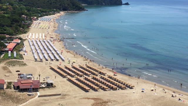 italian coastal resorts of sperlonga and terracina on sunday may 31 2020 - horizon over water stock videos & royalty-free footage