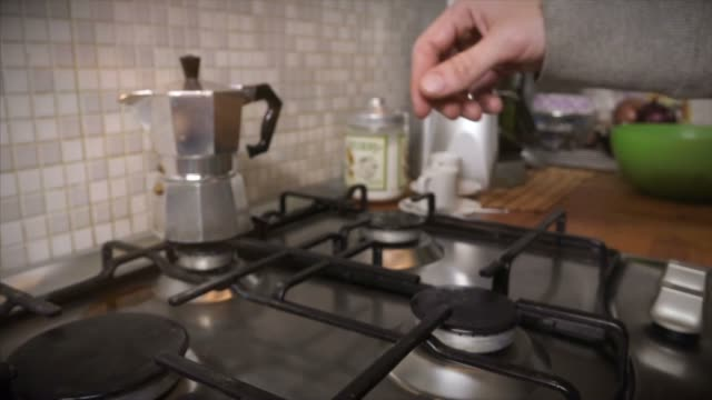 italian coffee maker moka with cup of coffee - mocha stock videos and b-roll footage