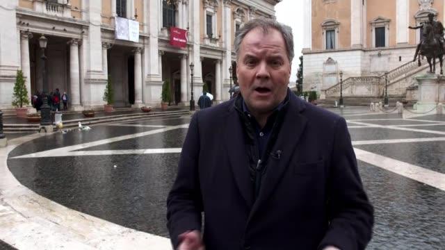Italian election leaves hung parliament Luigi Di Maio along through press EXT Reporter to camera