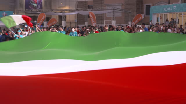 ITA: Football Fans in Rome for the Final Of The 2020 UEFA European Championships