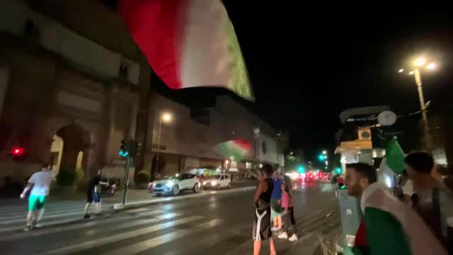 italian fans in rome celebrated advancing to euro 2020 final until the early hours of wednesday, july 7. italy reached the euro 2020 final after... - time stock videos & royalty-free footage