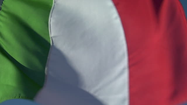 ECU, LA, Italian flag flapping against sky