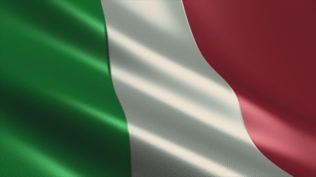 italienische flagge high detail - looping stock video - italienische flagge stock-videos und b-roll-filmmaterial