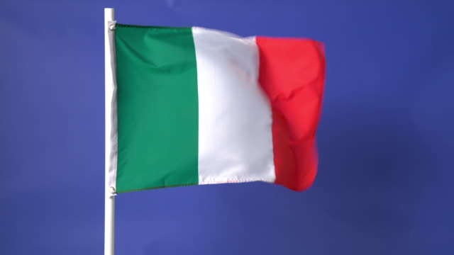 Italian flag on green screen