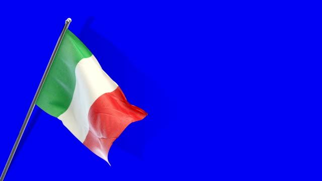 stockvideo's en b-roll-footage met italiaanse vlag rising - nationale vlag