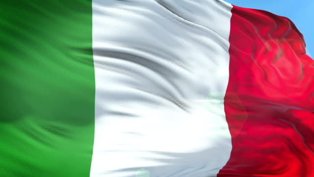 italian flag - slow motion - 4k resolution - italian flag stock videos and b-roll footage