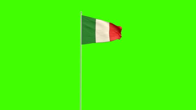 italian  flag - italian flag stock videos and b-roll footage