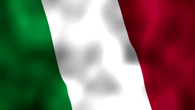 Italian flag waving in the wind