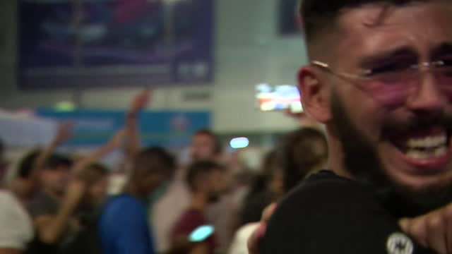 italian football fans in rome celebrating the italy winning the euro 2020 final against england - celebration stock videos & royalty-free footage