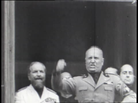italian leader benito mussolini encourages his people to restore the glory of rome as they cheer. - benito mussolini stock videos & royalty-free footage