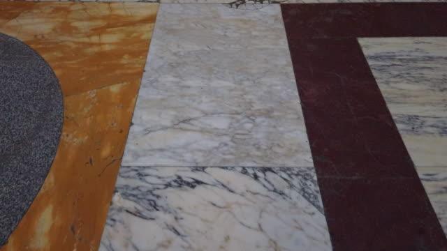 italian marble ground - a forma di blocco video stock e b–roll