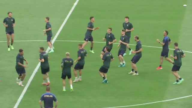 italian national football team have trained for the last time on thursday, june 10, ahead of friday's match with turkey in group a of euro 2020.... - concentration stock videos & royalty-free footage