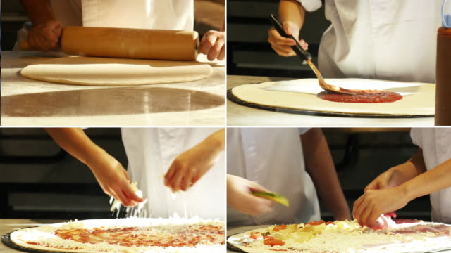 pizza italiana - persona attraente video stock e b–roll